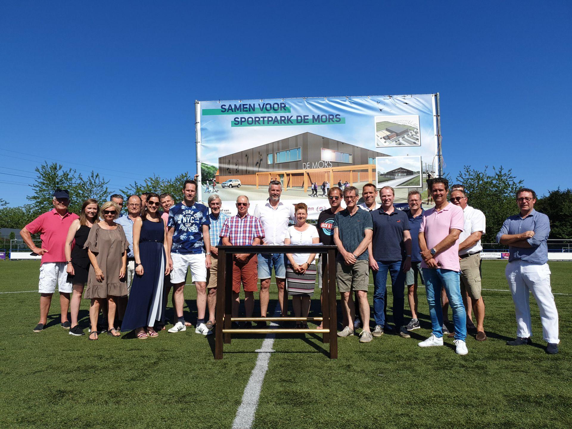 Clubs ondertekenen samenwerkingsovereenkomst Sportpark de Mors