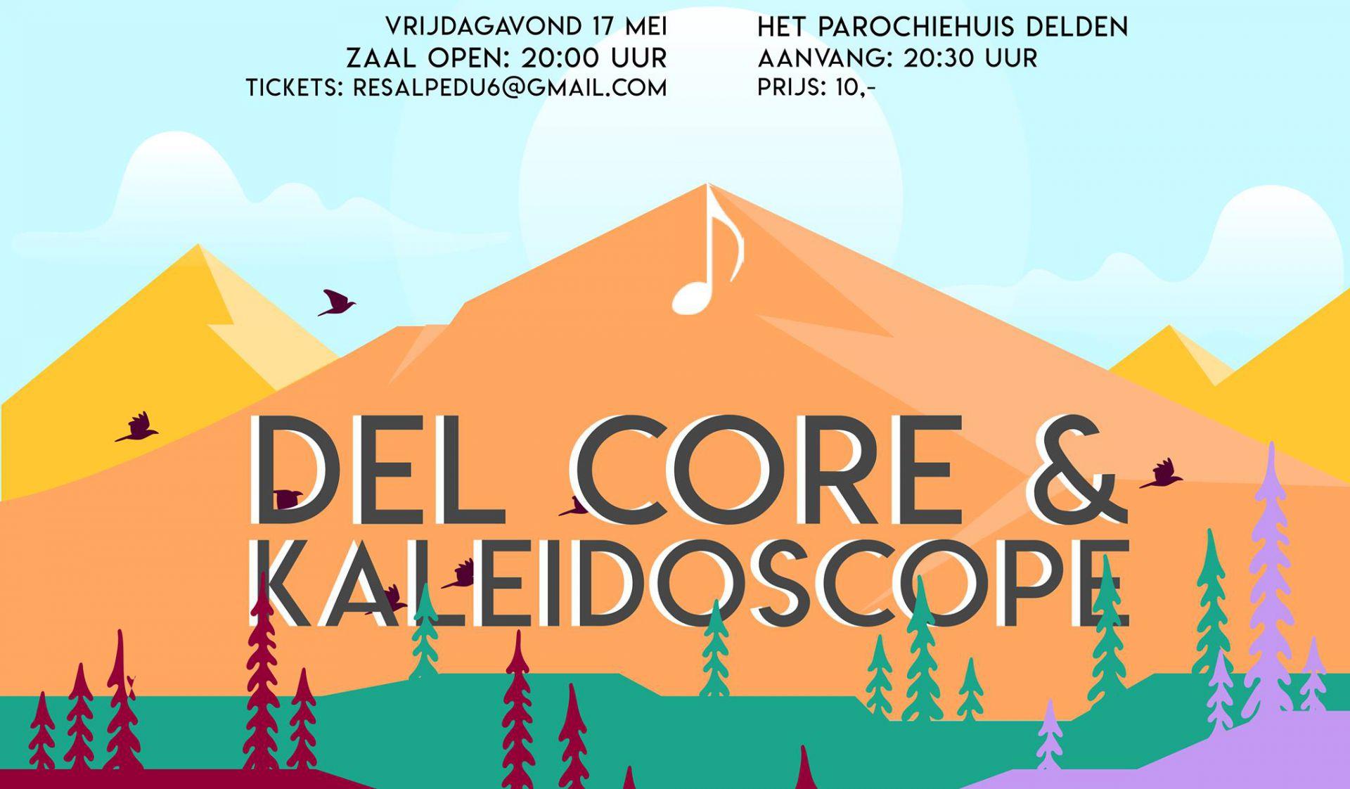 Benefietconcert Popkoor Del Core & Vocal Group Kaleidoscope in Delden