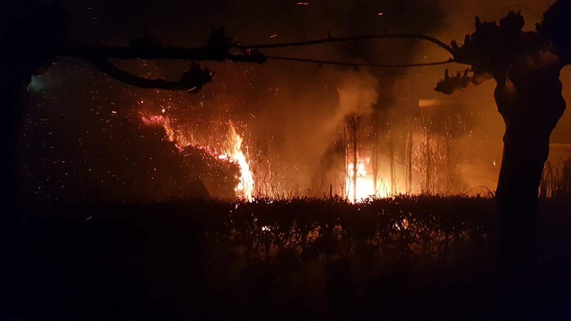 Heg en schuren vatten vlam aan Bernhardstraat in Delden