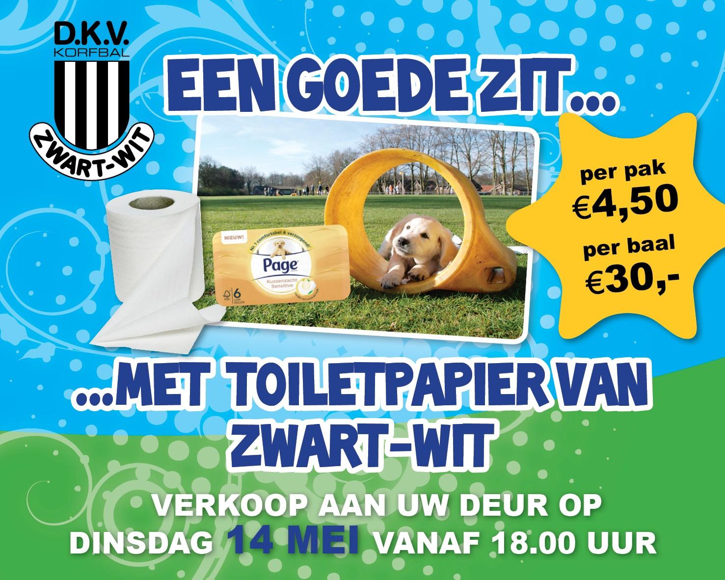 Jaarlijkse toiletpapieractie Zwart Wit op 14 mei