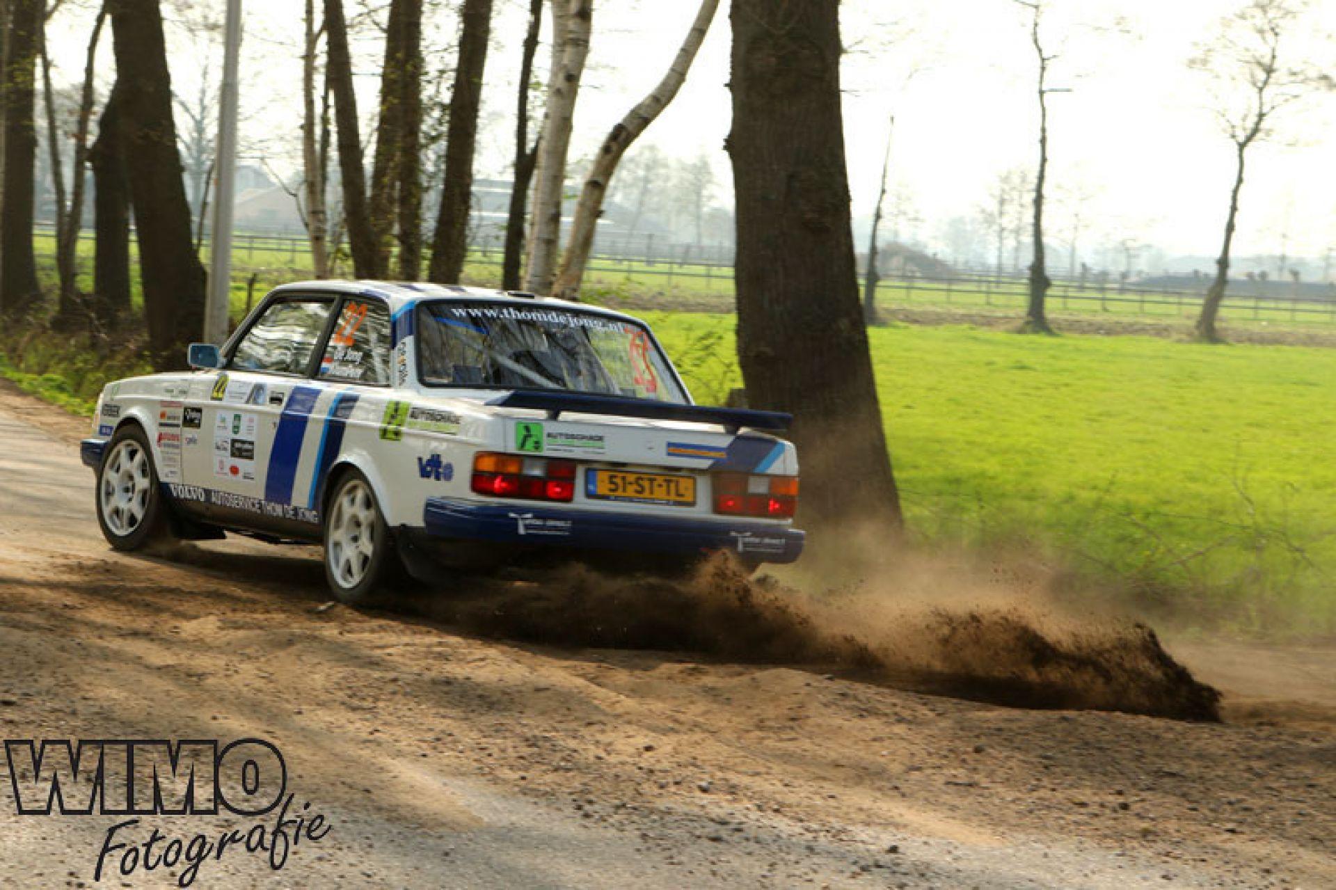 Prima resultaat voor rallyteam De Jong in Visual Art Centraal Nederland Rally