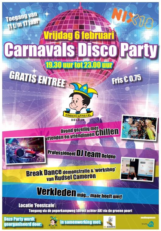 Carnavals Disco Party voor Deldense jeugd