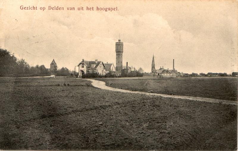 De geschiedenis van Delden in beeld - Gezicht op Delden vanuit het Hoogspel