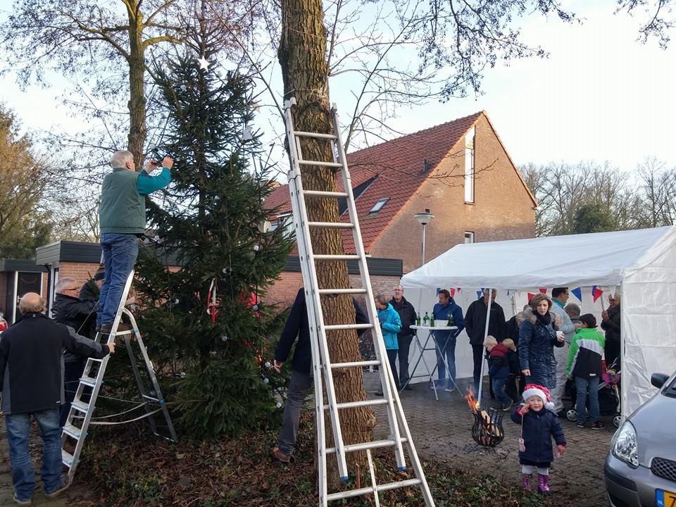 Deldense buurten plaatsen jaarlijkse kerstboom