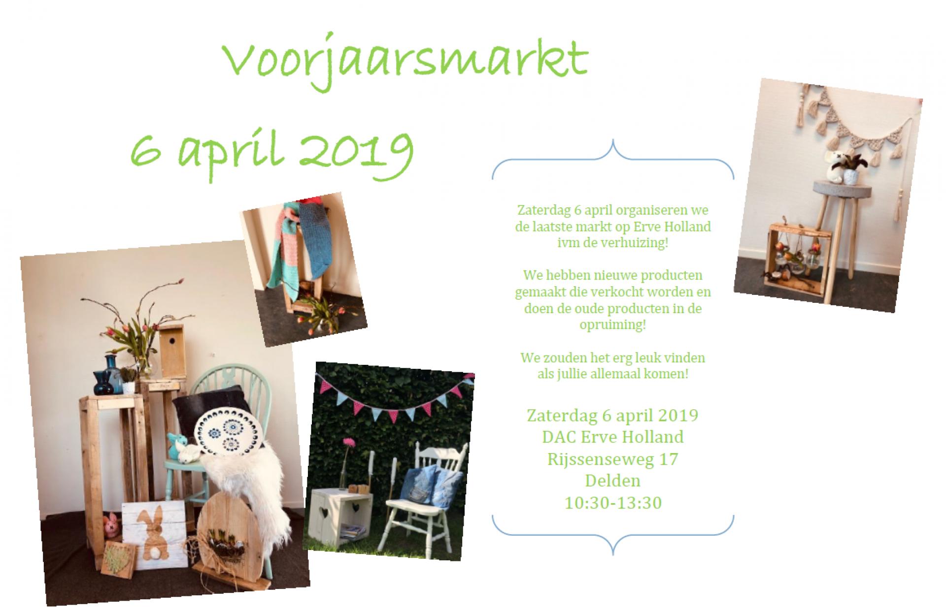 Laatste voorjaarsmarkt op Erve Holland in Delden