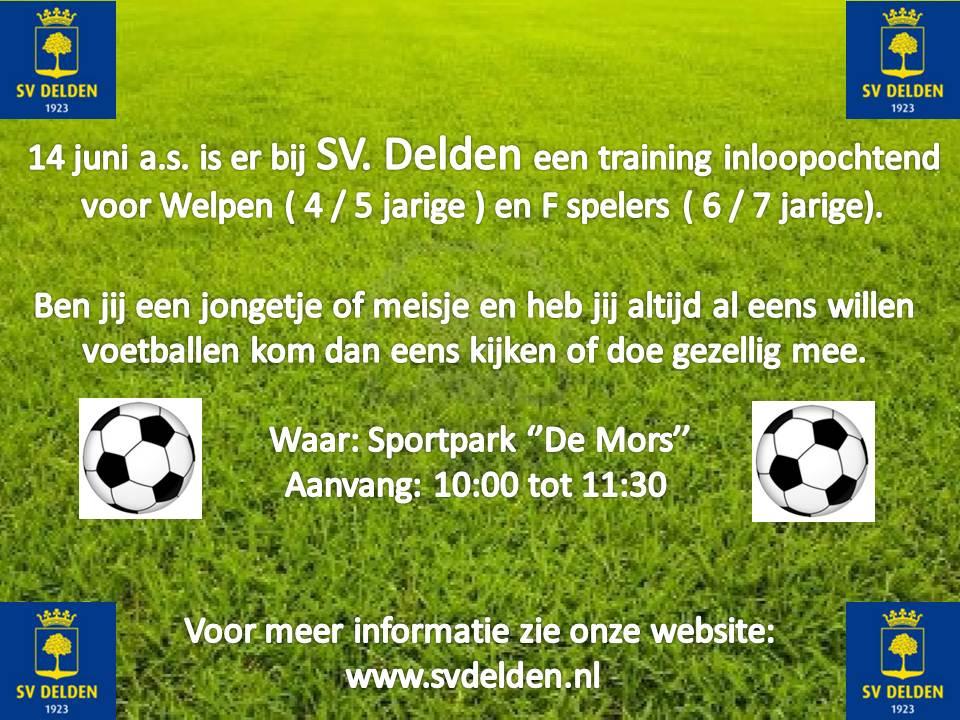 Inloopochtend bij voetbalvereniging SV Delden