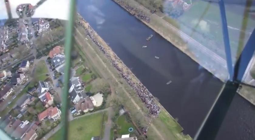 Luchtbeelden 'flyby' tijdens oversteek DTNT online!