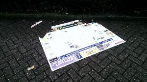 Plattegrond bij café De Boemel in Delden vernield