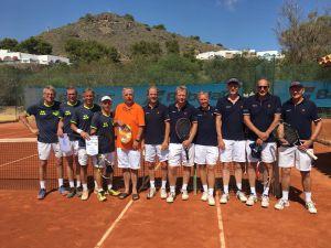 45+ team Tennis Club Delden eindigt als negende op EK