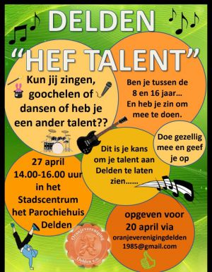 Oranjevereniging zet streep door 'Delden hef Talent'