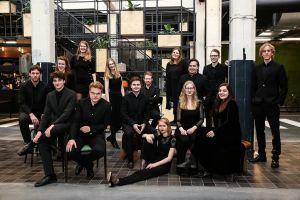 Optreden Vocaal Ensemble Cordier in Oude Blasius