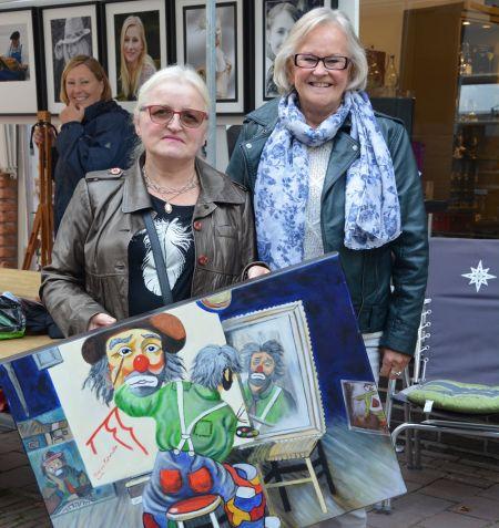 Fotoclub de Hof verloot schilderij tijdens Straatfestival Delden