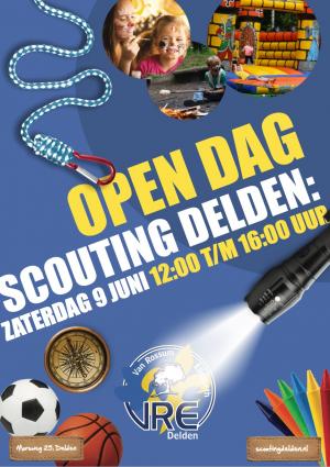 Open dag scouting Delden op 9 juni